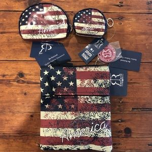 3 sizes American bag and coin purses bundle